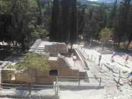 Ruins of the Minoan palace, restored in the 1970s