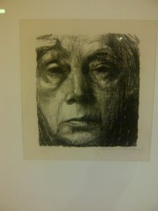 Kathe Kollwitz created self portraits throughout her life, giving an honest look at her aging