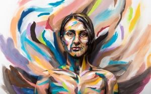 Make-u-believes Painted Portait inspired piece