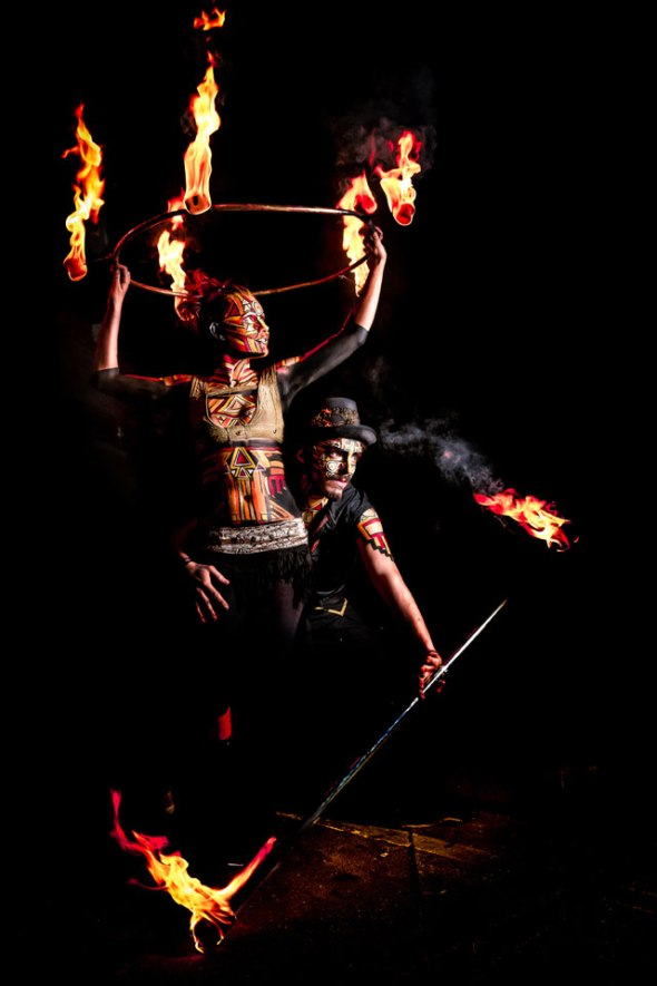'Alchemy' Fire performers Jenni Ives & Joe Desrue